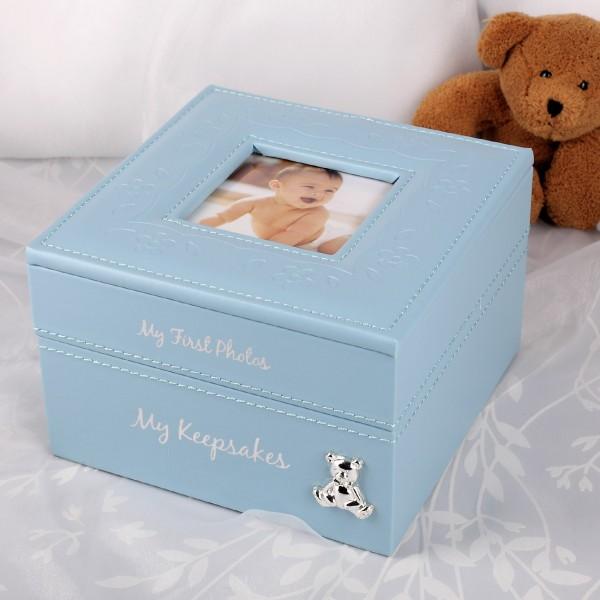 Aufbewahrungsbox Baby-Boy in hellblau zur Geburt