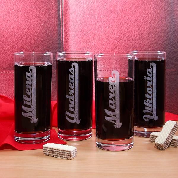 Trinkglas mit Gravur zum Geburtstag
