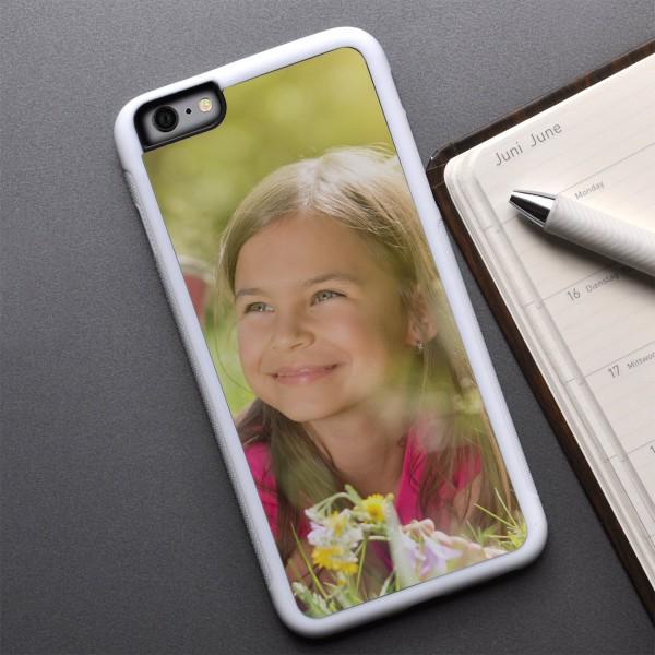 iPhone 6 Plus Cover in weiß mit Foto zum Geburtstag