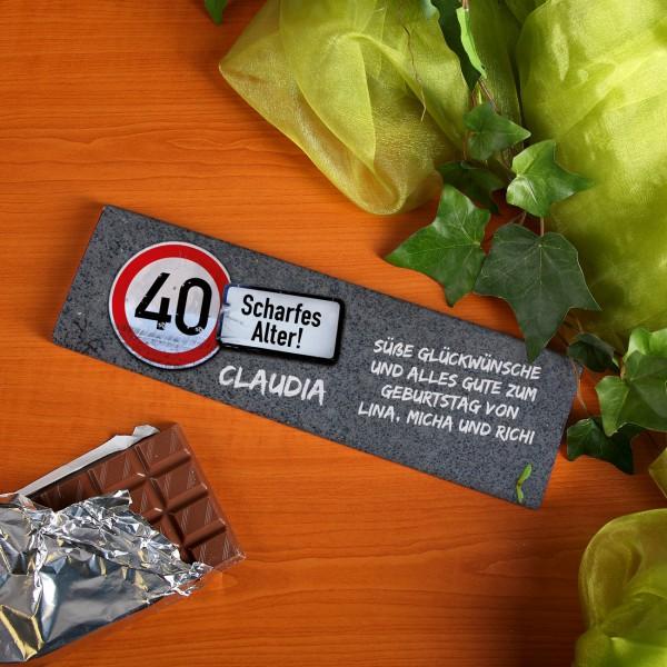 XXL Schokolade –  Achtung Alter – zum Geburtstag