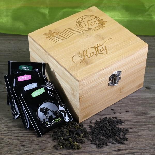Teebox von Loyal Tea mit Wunschnamen
