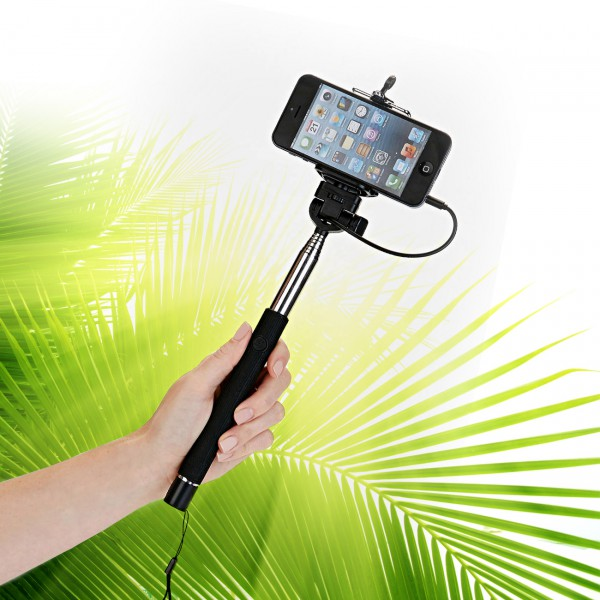 Selfie Teleskopstange mit Auslöser für die nächste Party