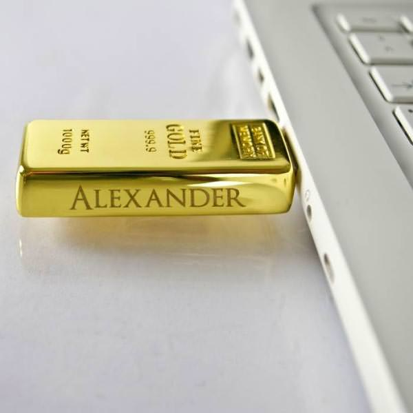 USB – Stick als Goldbarren